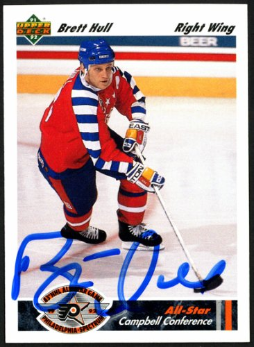 Brett Hull Autographed Signed Memorabilia 1991 -92 Upper Deck Card #622 St. Louis Blues 149902 - Certified Authentic