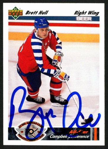Brett Hull Autographed Signed Memorabilia 1991 -92 Upper Deck Card #622 St. Louis Blues 149903 - Certified Authentic
