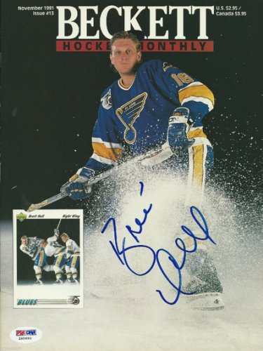 Brett Hull Autographed Signed November 1991 Beckett Magazine With PSA/DNA COA (No Label)