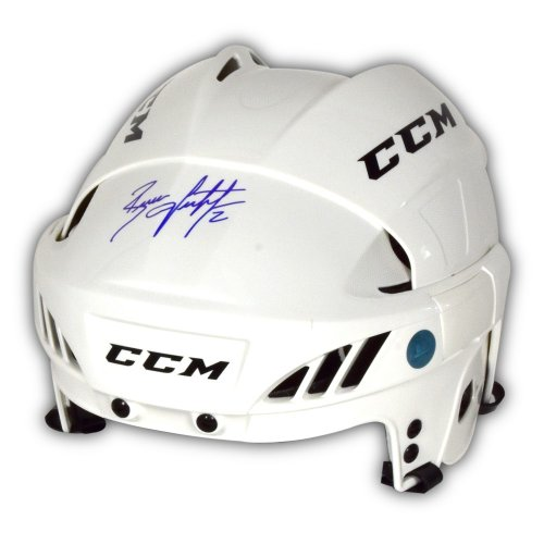 Brian Leetch Autographed Signed White CCM Hockey Helmet - New York Rangers