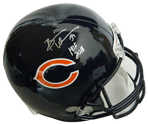 b1fbea990 Brian Urlacher Autographed   Signed Chicago Bears Riddell Full-Size Replica  Helmet w HOF