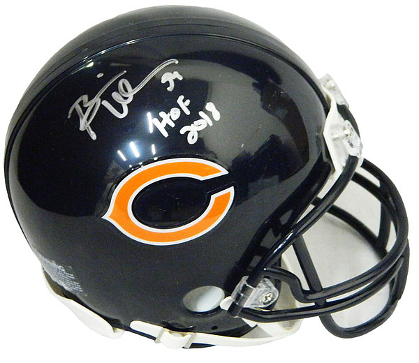 Sports Mem, Cards & Fan Shop Brian Urlacher Hof 2018 Autographed Signed Chicago Bears Mini Helmet Jsa Coa Football-nfl