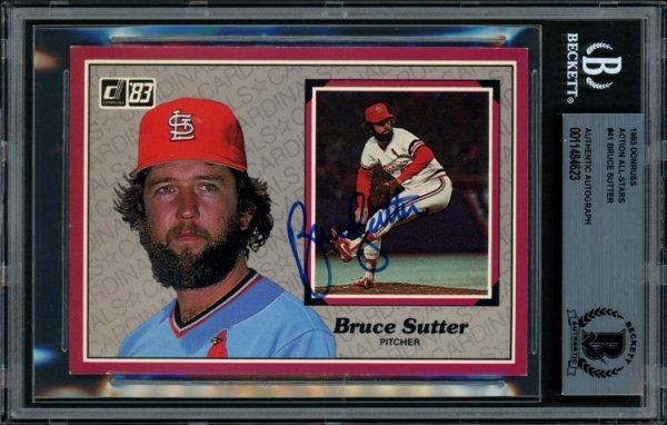 Bruce Sutter Autographed Signed 1983 Donruss Action All Stars Card 41 St. Louis Cardinals Beckett BAS 11484623