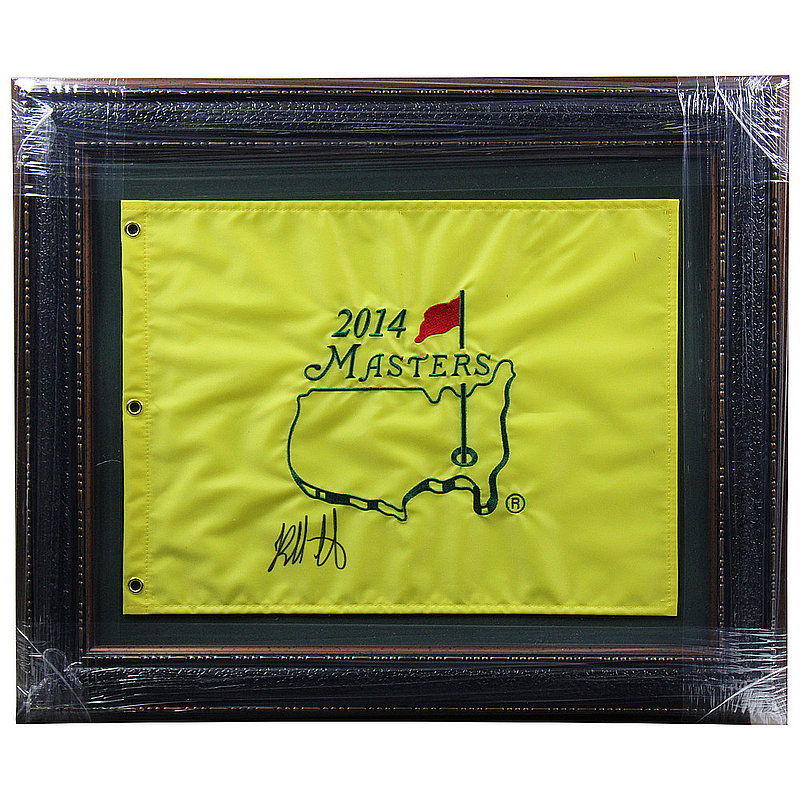 Bubba Watson Autographed Signed Premium Framed 2014 Masters Tournament Pin Flag - Certified Authentic