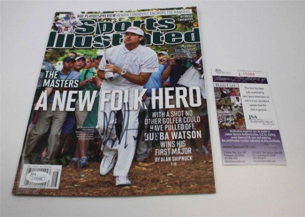 Bubba Watson Autographed Signed Sports Illustrated Magazine No Label The Masters JSA COA
