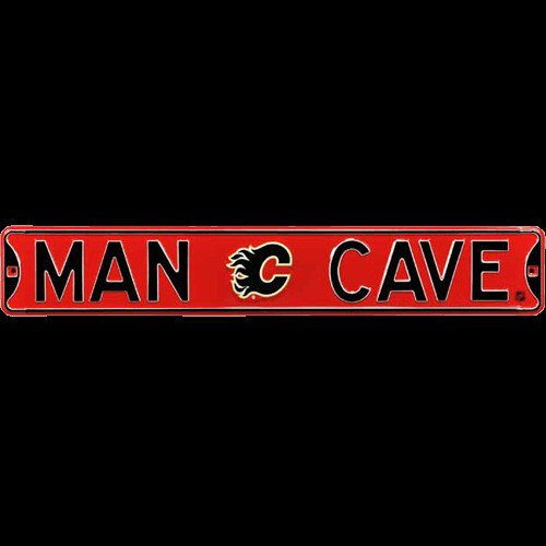 Calgary Flames MAN CAVE Authentic Street Sign