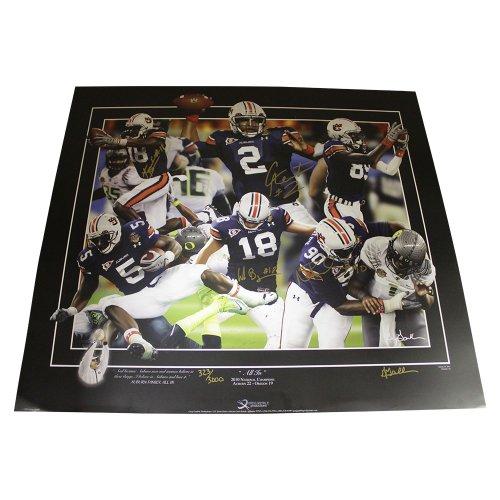 1d6c80ee Cam Newton + 3 Auburn Champions Autographed Signed 24x30 Gamble Print Auburn  Tigers - Certified Authentic