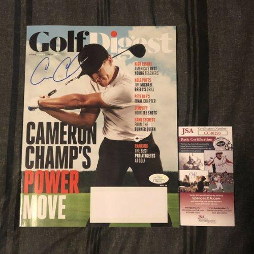 Cameron Champ Autographed Signed Golf Digest Magazine Brand New Autographed Auto JSA COA Hot