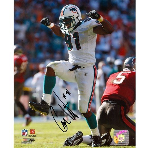 Cameron Wake Autographed Signed Miami Dolphins (Celebration) 8X10 Photo - Wake Holo