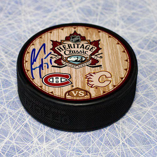Carey Price Montreal Canadiens Autographed Signed 2011 Heritage Classic Hockey Puck