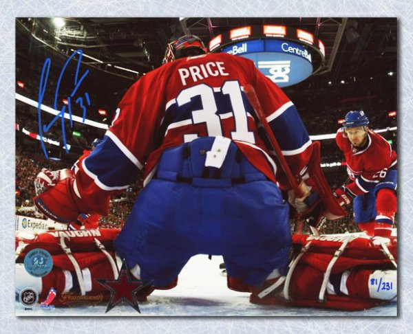 Carey Price Montreal Canadiens Autographed Signed Bell Centre Net Cam Autographed Signed 16x20 Photo #/131