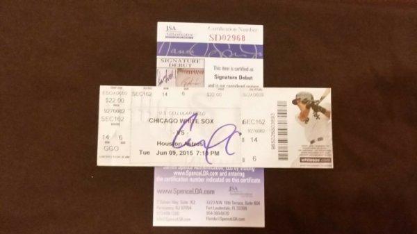 Carlos Correa Autographed Signed 1St MLB Home Run #1 Career Hr Ticket Stub JSA COA