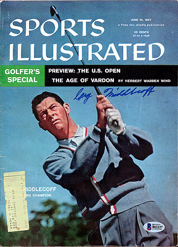 Cary Middlecoff Autographed Signed Sports Illustrated Magazine - Beckett Certified