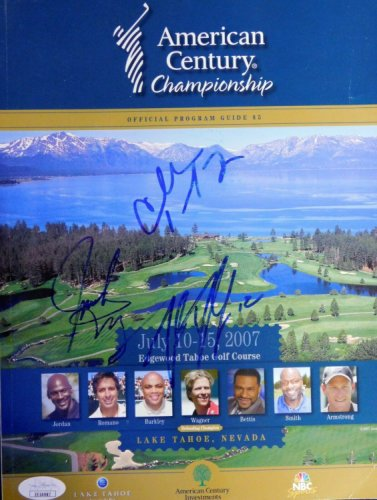 Charles Barkley Autographed Signed , Trent Dilfer And Jack Wagner Program JSA Authenticated
