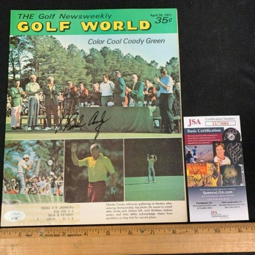 Charles Coody Autographed Signed Hand Autographed 1971 Golf World Magazine JSA/COA D 12121