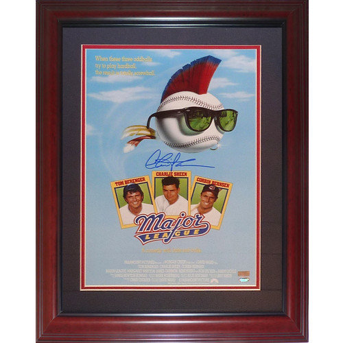 62ac9713d Charlie Sheen Autographed Signed Auto Major League Deluxe Framed 11?x17?  Movie Poster