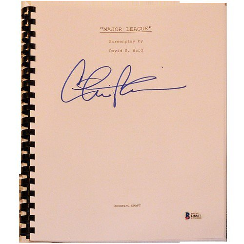 Charlie Sheen Autographed Signed Major League Movie Full Script - Beckett Witnessed
