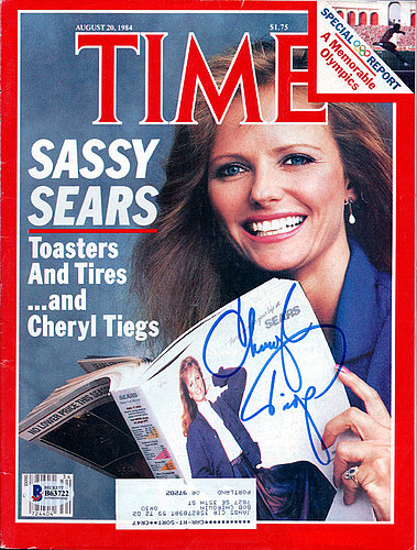 Cheryl Tiegs Autographed Signed Time Magazine - Beckett Certified