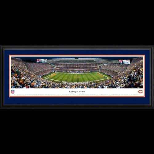 Chicago Bears (50 Yard Line) Deluxe Framed Stadium Panoramic