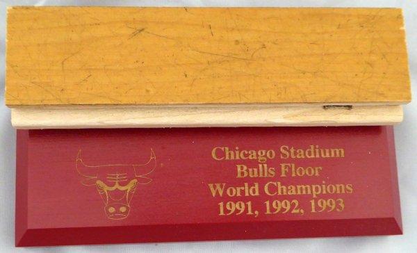 Chicago Bulls Game Used 1.5x6 Blonde Hardwood Floor Piece Michael Jordan Stock #123770