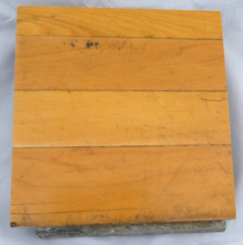 Chicago Bulls Game Used 6x6 Blonde Hardwood Floor Piece Michael Jordan Stock #123768