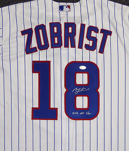 8c4f1948e Chicago Cubs Ben Zobrist Autographed Signed White Majestic Cool Base Jersey  2016 All Star Size XL - Beckett Certified KEN