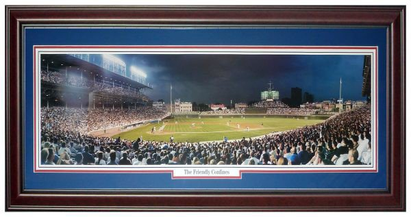 Chicago Cubs (Friendly Confines) Deluxe Framed Panoramic Photo