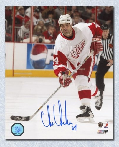 Chris Chelios Detroit Red Wings Autographed Signed Hockey Action 8x10 Photo  - Certified Authentic 78ff545bc