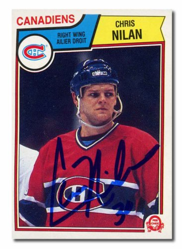 Chris Nilan Autographed Signed 1983 OPC Rookie Card - Montreal Canadiens