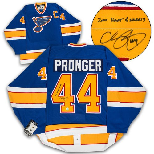 newest b7ce1 62137 Chris Pronger St. Louis Blues Autographed Signed Adidas ...