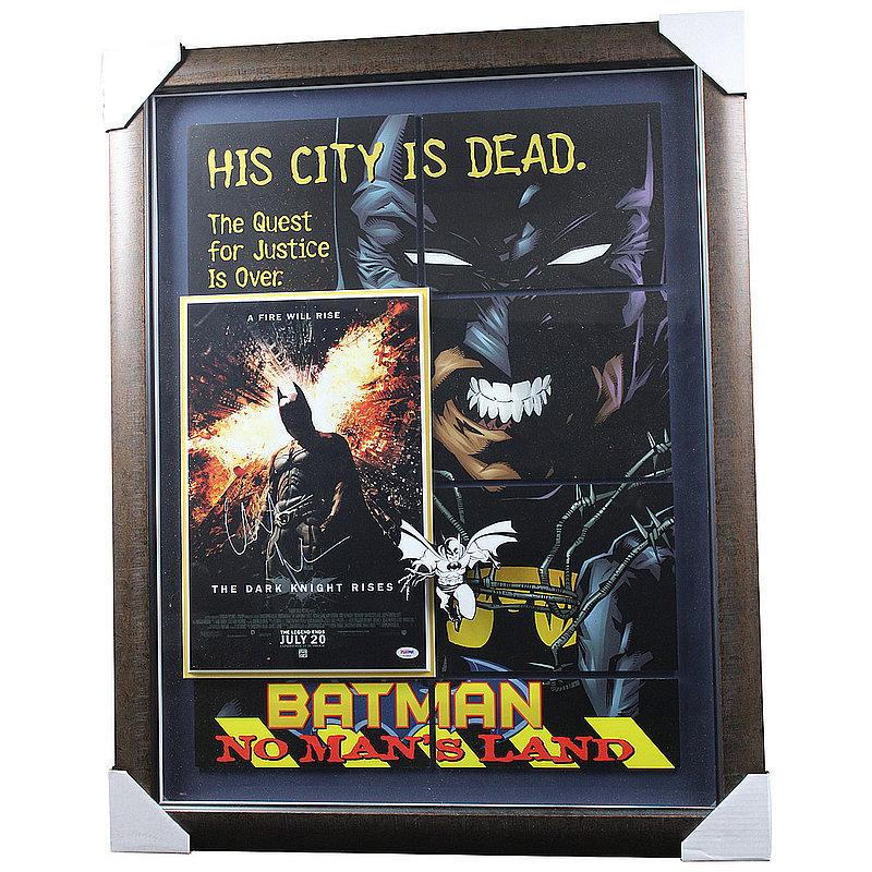 Christian Bale Autograped 'The Dark Knight Rises' Photo Shadowbox - PSA/DNA Authentic