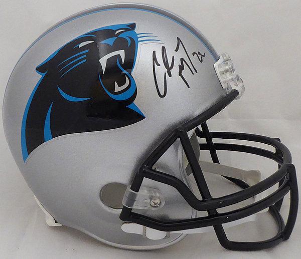 ecd36261 Christian Mccaffrey Autographed Signed Memorabilia Carolina Panthers Full  Size Replica Helmet - Beckett Authentic