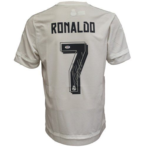 0cf6ff8bc Christiano Ronaldo Autographed Signed Real Madrid White   Grey Jersey -  PSA DNA Certified Authentic
