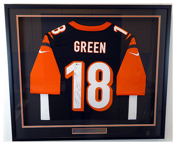 Cincinnati Bengals A.J. Green Autographed Signed Framed Black Nike Twill  Jersey Size L - Beckett Authentic 270764189