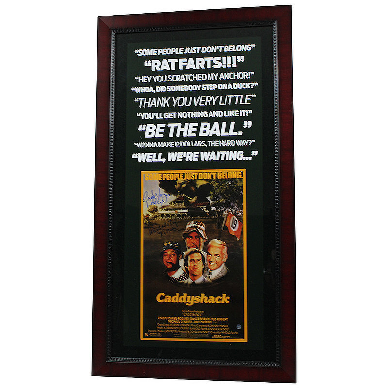 Cindy Morgan and Michael O'Keefe Autographed Signed CaddyShack Framed Quote Photo - Certified Authentic
