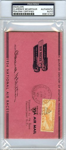 Clarence McArthur Autographed Signed Envelope - PSA/DNA Certified
