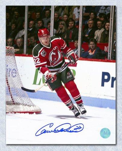 d1f177f59 Claude Lemieux New Jersey Devils Autographed Signed Retro Jersey Action  8x10 Photo - Certified Authentic