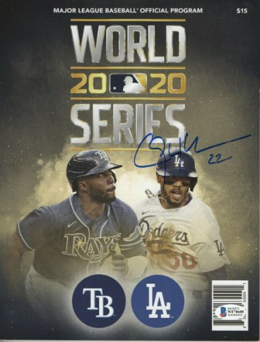 Clayton Kershaw Autographed Signed Autographed 2020 World Series Program Dodgers Beckett