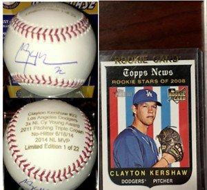 Clayton Kershaw Autographed Signed Career Stat Baseball Le 1/22 JSA Logo Case 2008 Topps Rc