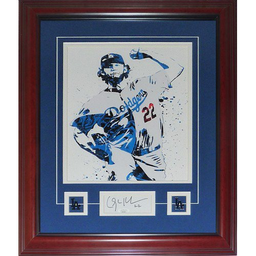 Clayton Kershaw Autographed Signed Deluxe Framed Los Angeles Dodgers 11X14 Art Print with Signature - JSA