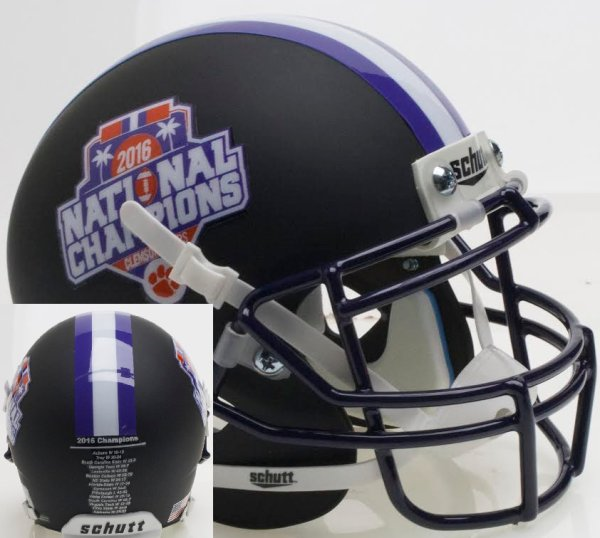 Clemson Tigers Authentic Football Helmet 2016 National Champs Matte Black