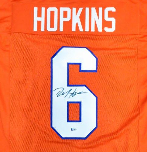 Clemson Tigers DeAndre Hopkins Autographed Signed Orange Jersey Beckett BAS