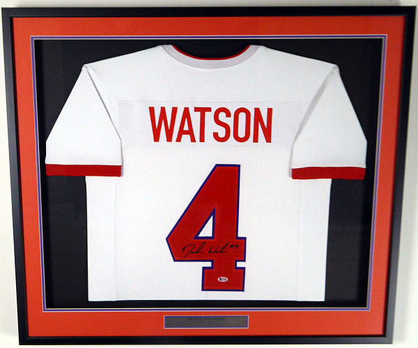 Clemson Tigers DeShaun Watson Autographed Signed Framed White Jersey -  Beckett BAS Authentic b65db203f