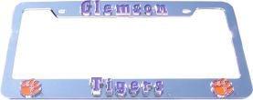 Clemson Tigers License Plate Frame 3D