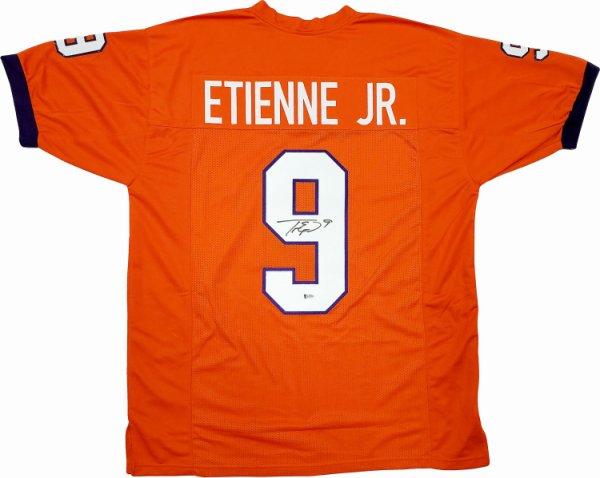 Clemson Tigers Travis Etienne Autographed Signed Orange Jersey Beckett BAS