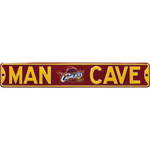 Cleveland Cavaliers MAN CAVE Authentic Street Sign