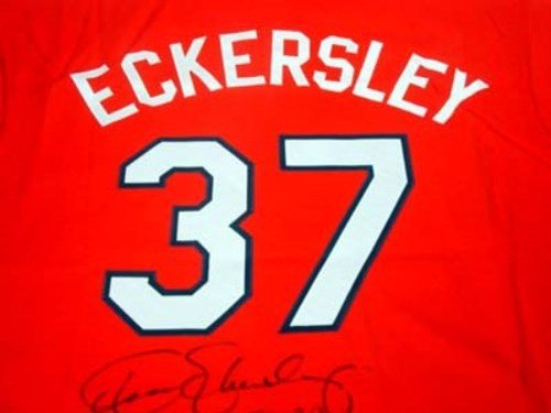 san francisco 09f0d 65e1b Cleveland Indians Dennis Eckersley Autographed Signed Red ...