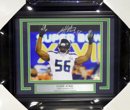 Cliff Avril Hand Signed Autographed Seattle Seahawks Jersey