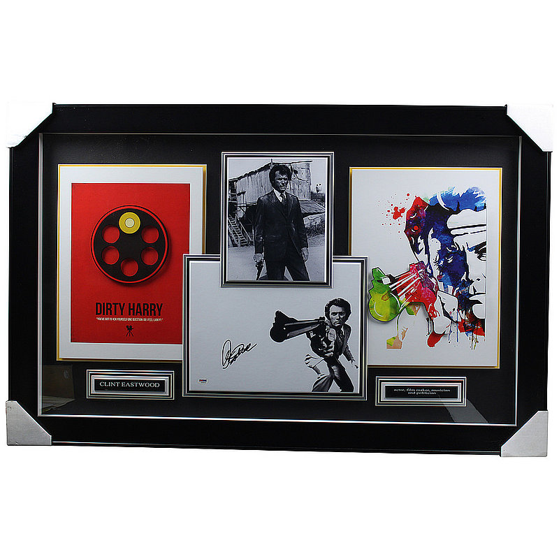 Clint Eastwood Autographed Signed 'Dirty Harry' Framed Photo Shadowbox - PSA/DNA LOA Authentic