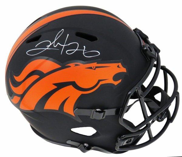 Clinton Portis Autographed Signed Broncos Eclipse Black Matte Riddell Full Size Speed Replica Helmet